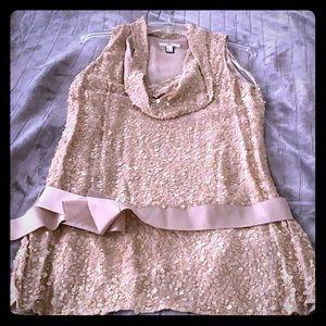 Mango gold sequin super mini dress